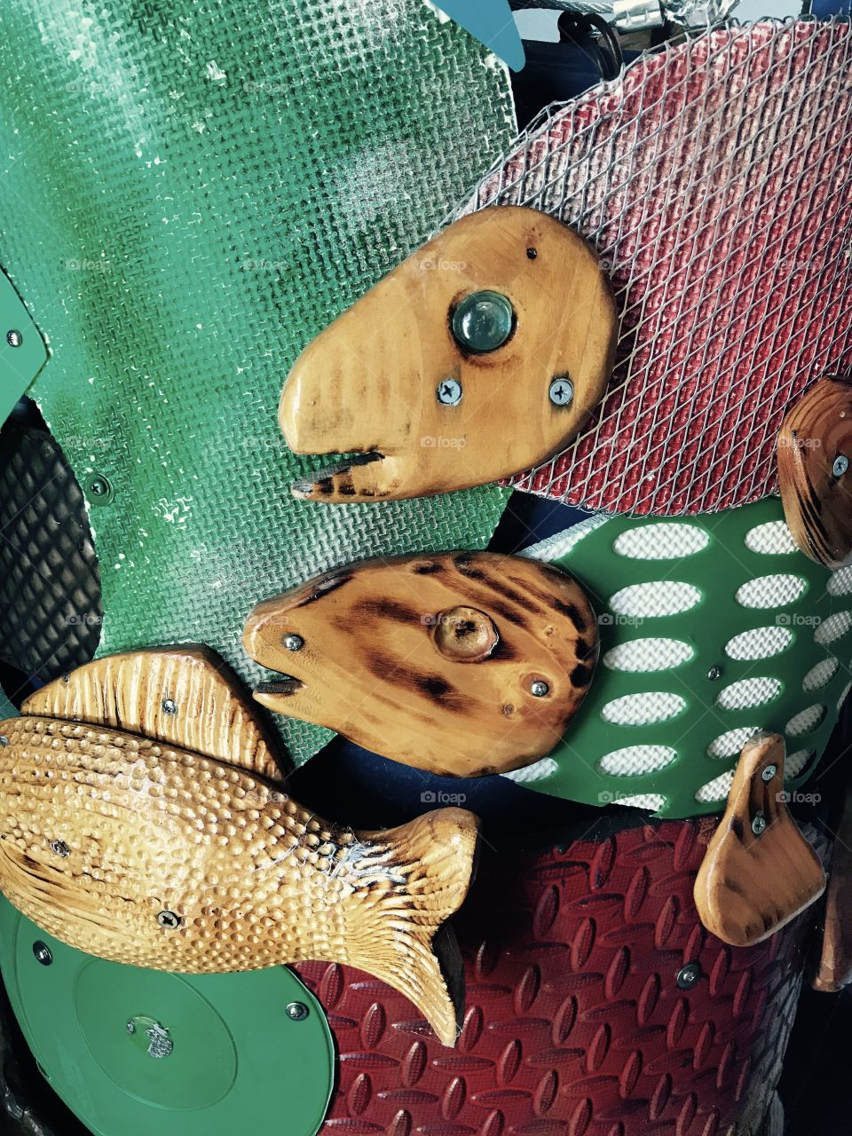 Fish art sculpture