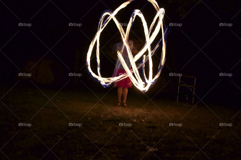 My friend playing with fire.