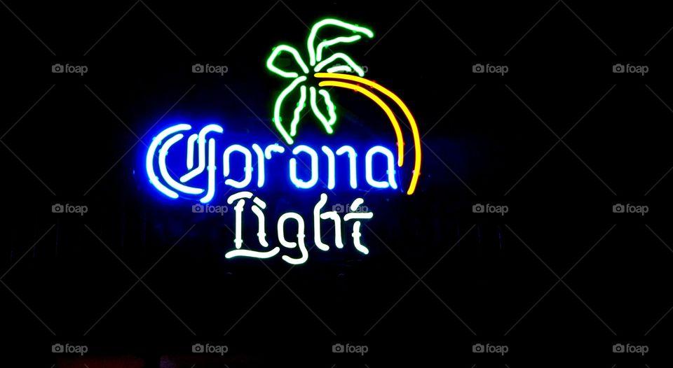 Corona Light sign