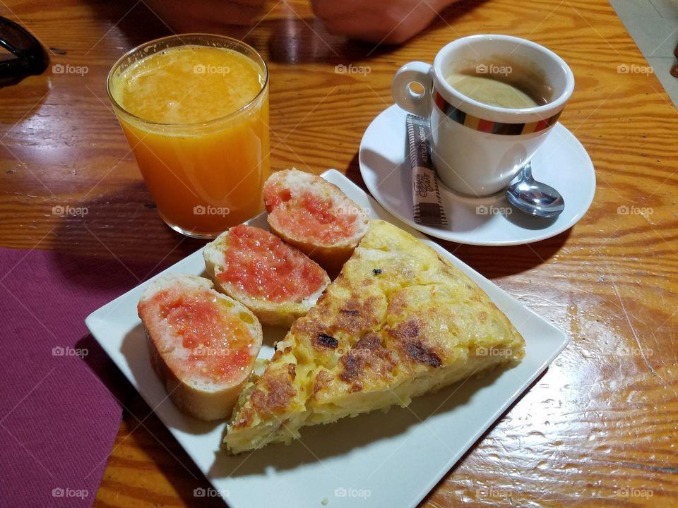 Spanish omelette breakfast