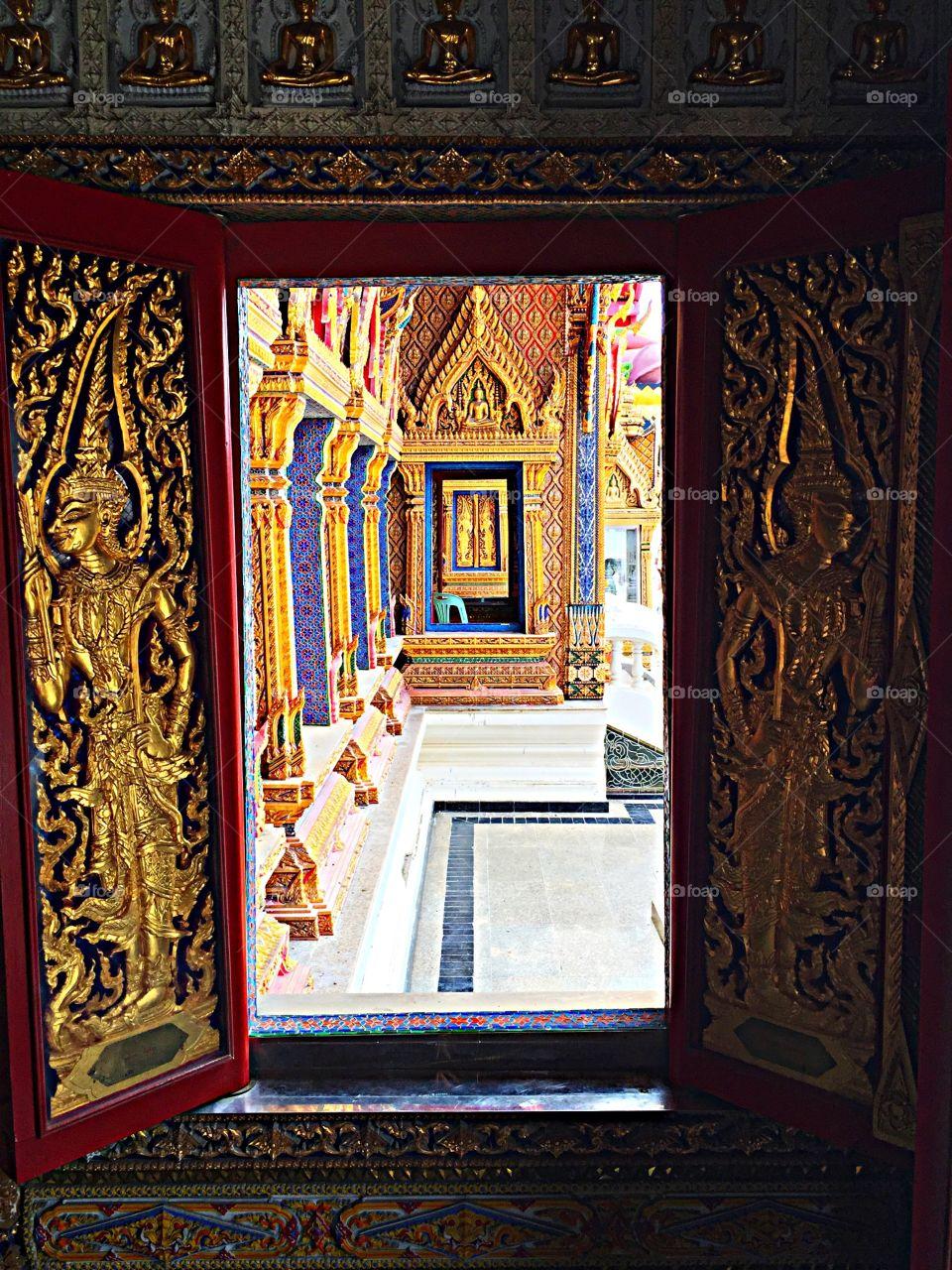 Through a Temple