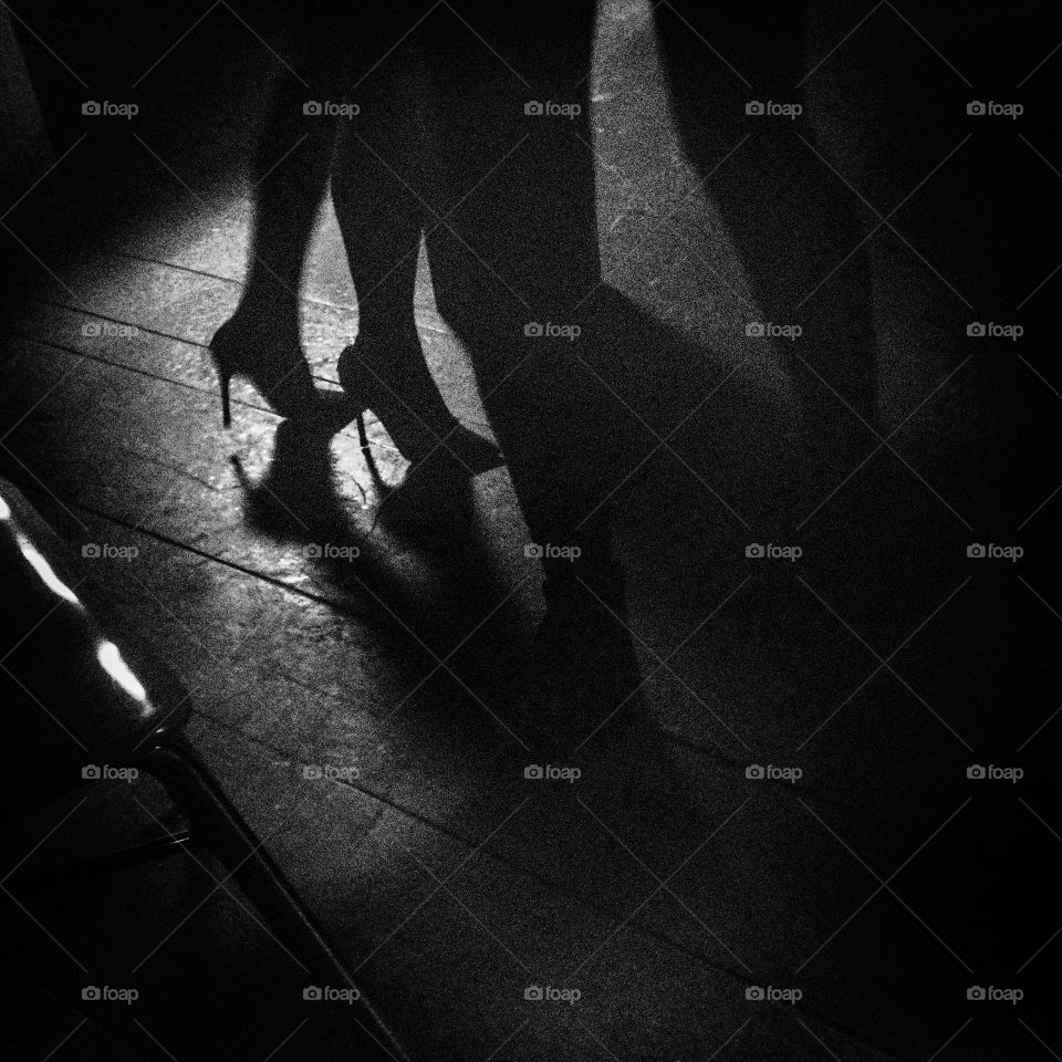 In the night. Heels for party