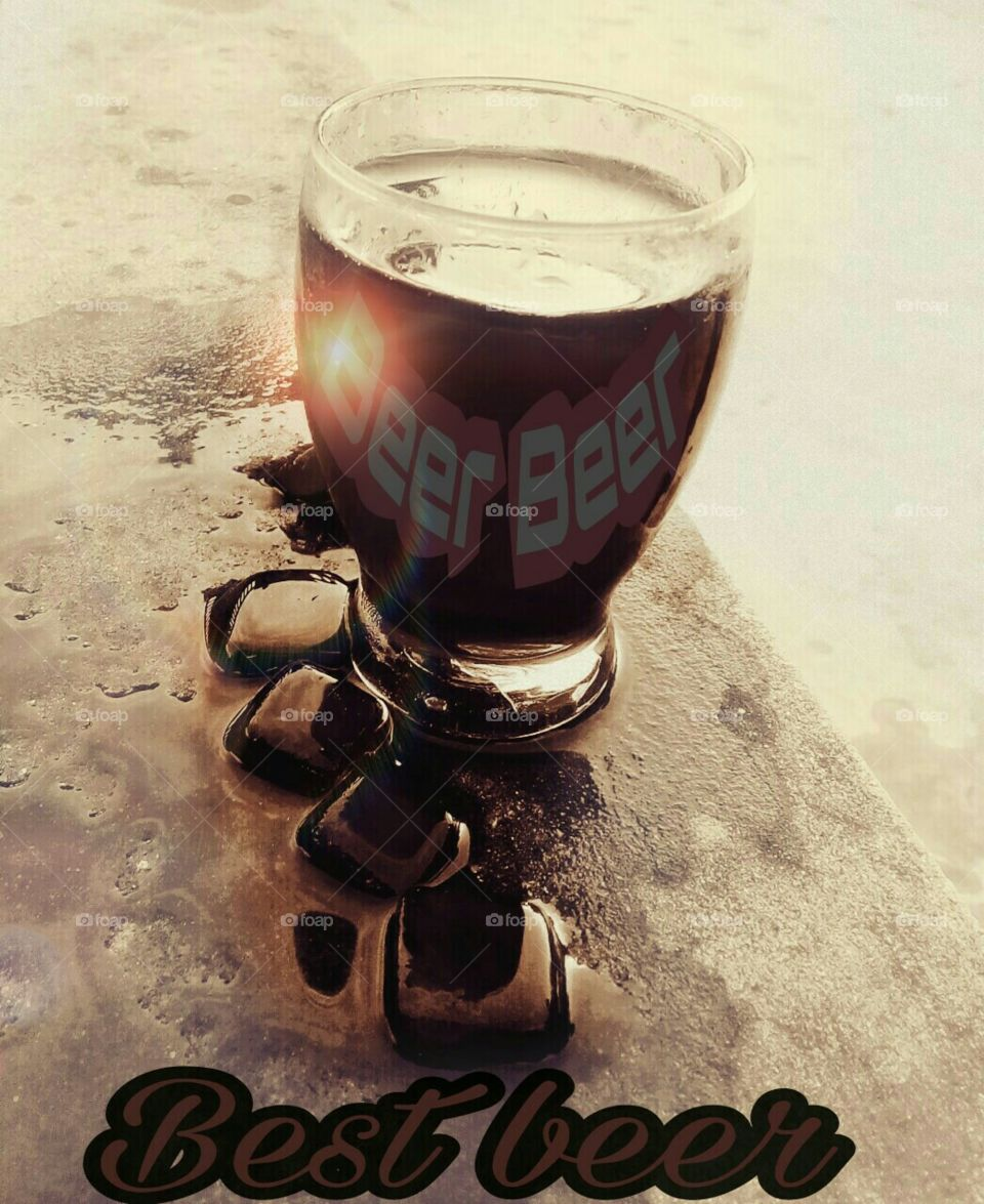 Coffee colour beer. Drink and refresh your self and you should take some privacy ....good luck ...!! It is coffee flavour beer new in market and not for every one .