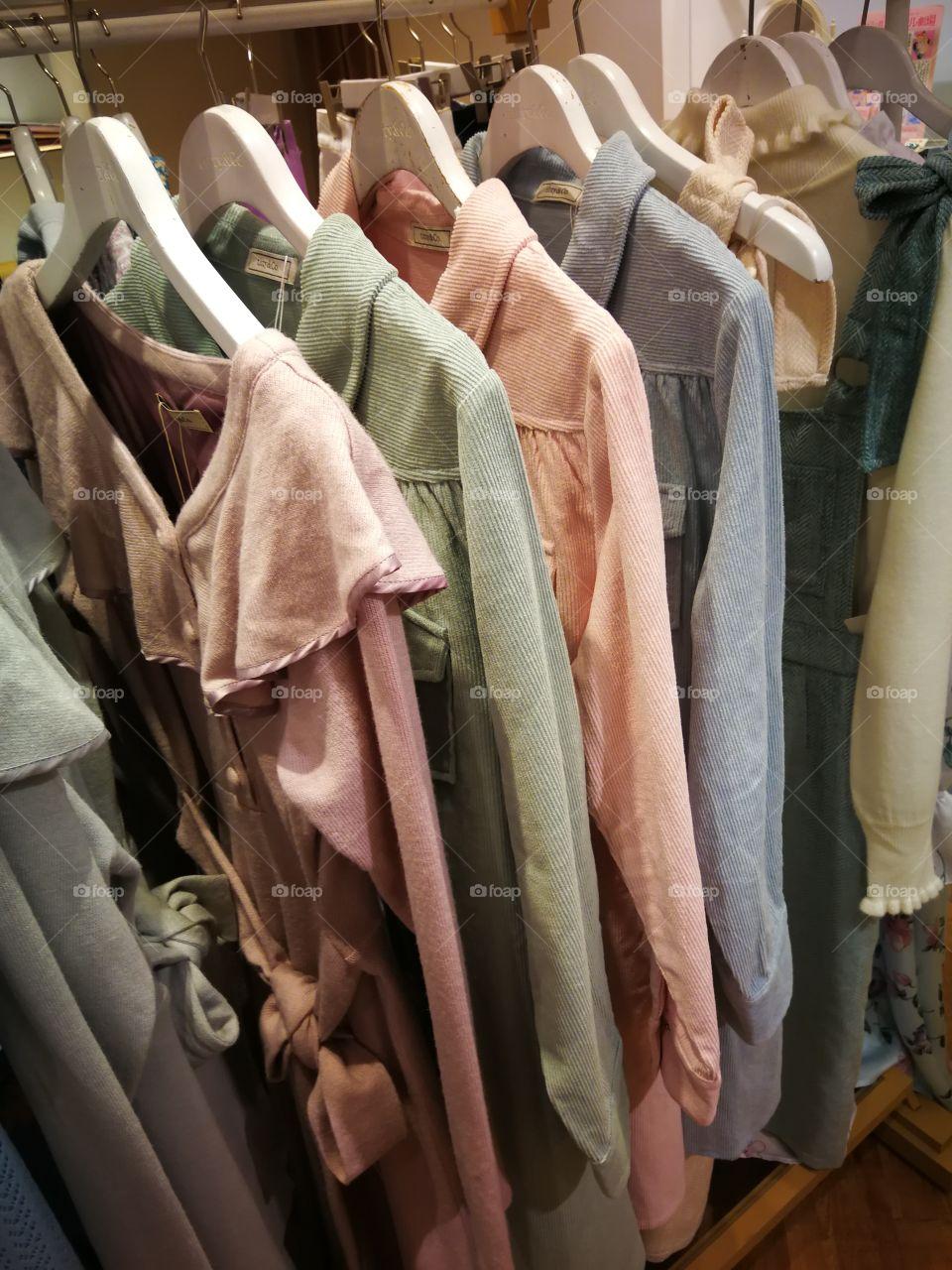 Browsing the clothing racks