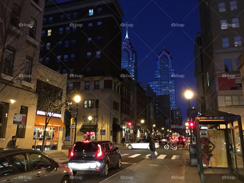 Night life in a big city