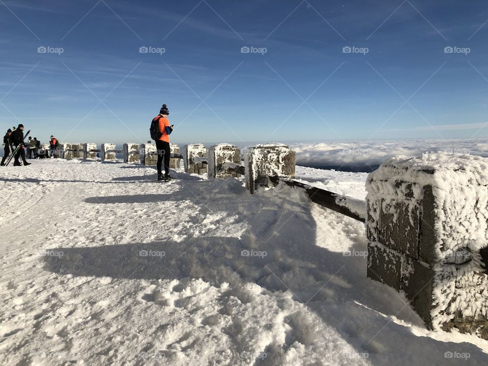 my dad on the hill of Mount Praděd