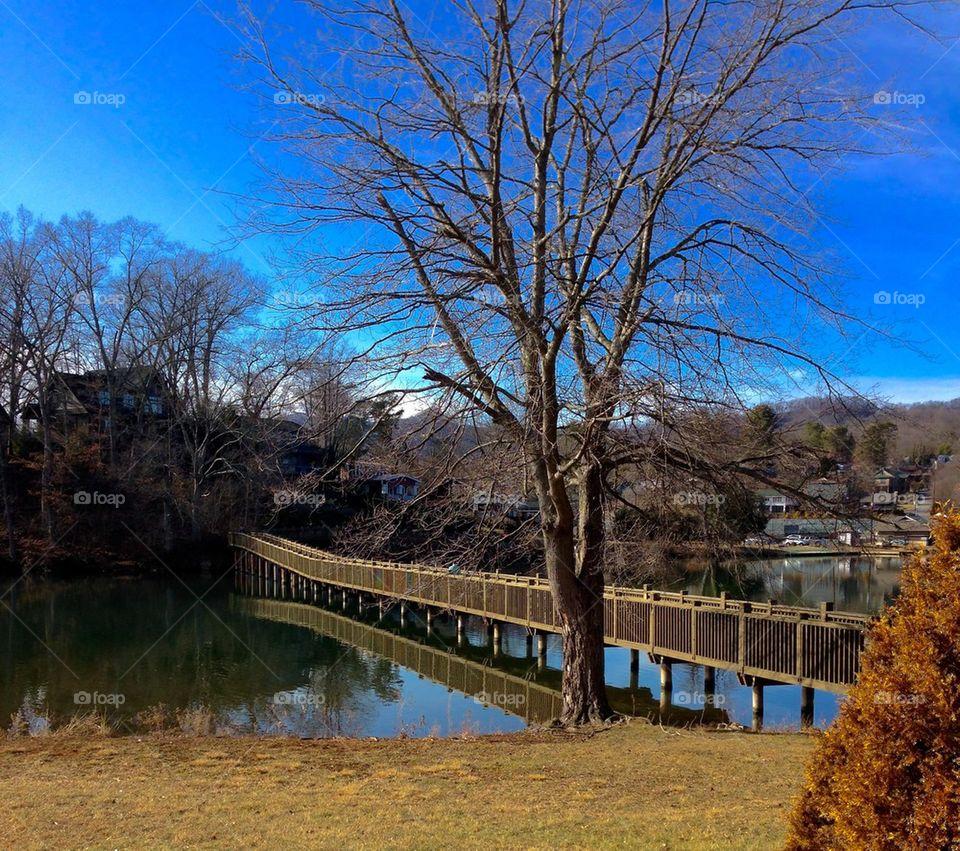 Footbridge and Reflection