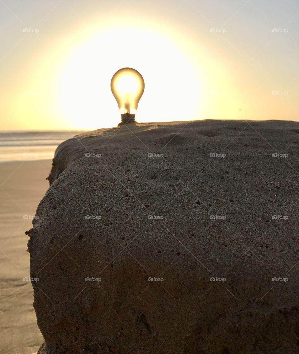 Lamp  sunset