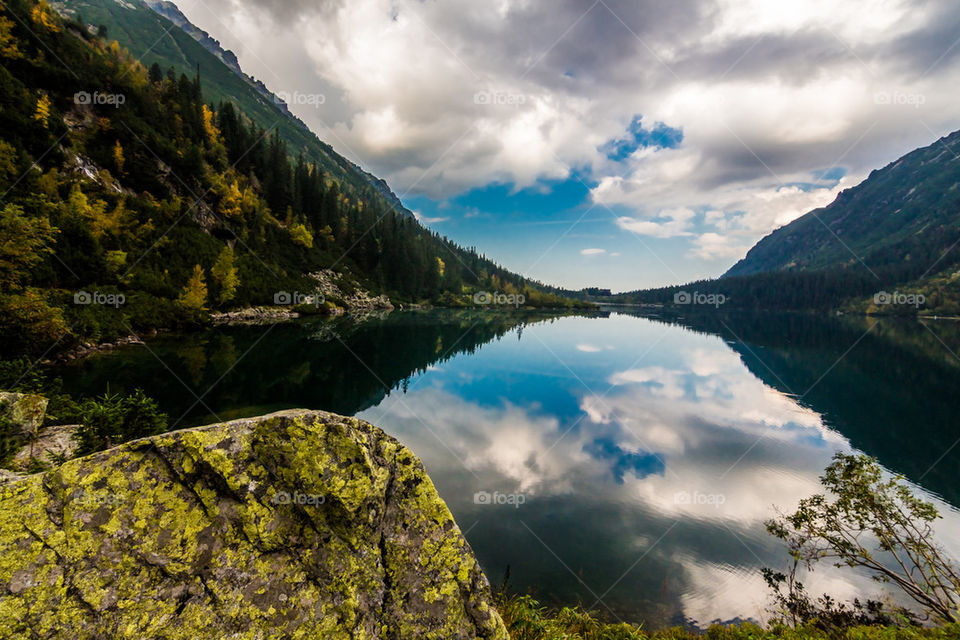 Reflection in Morskie oko lake