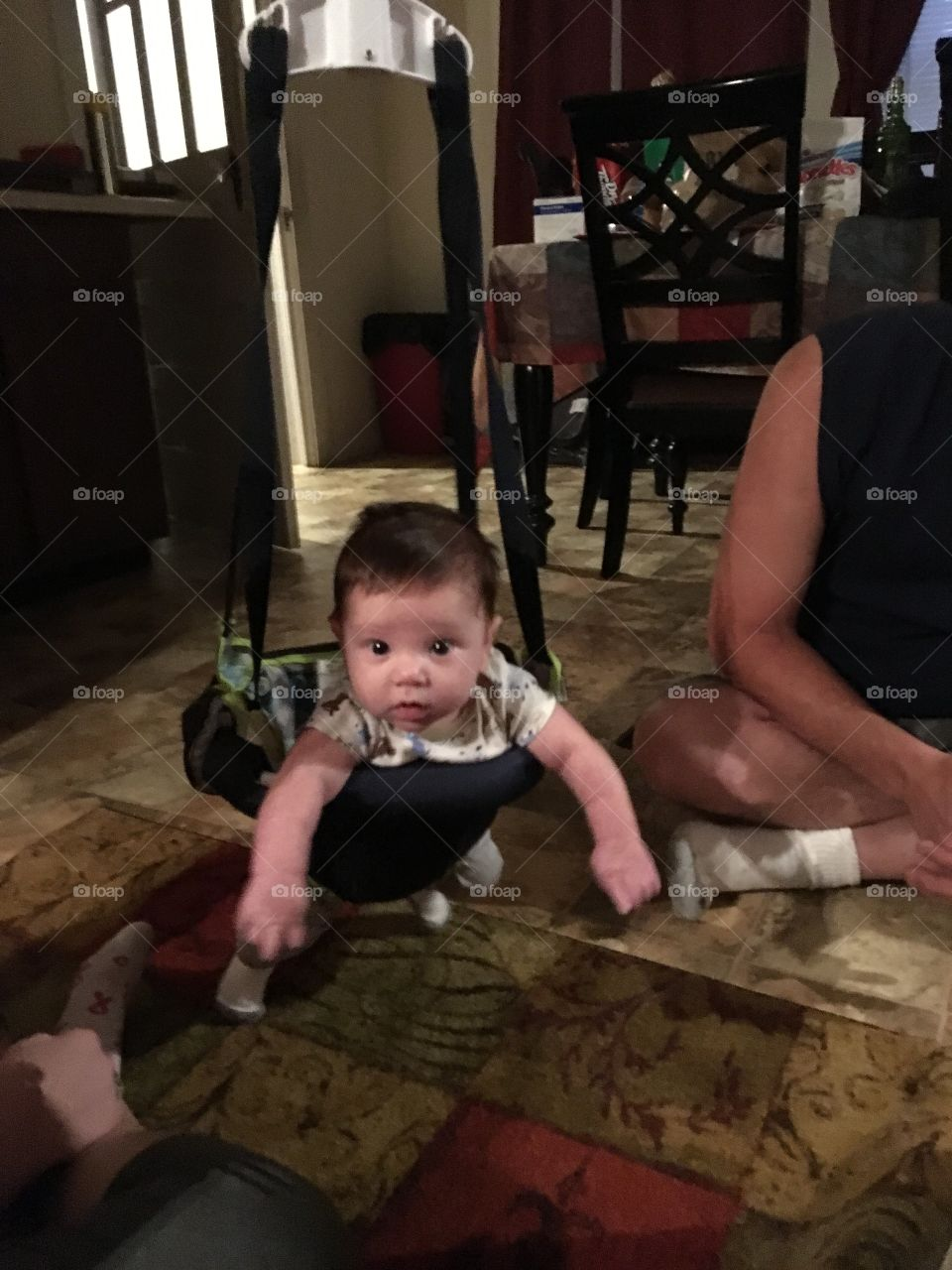 My grandson in his bouncer❤️