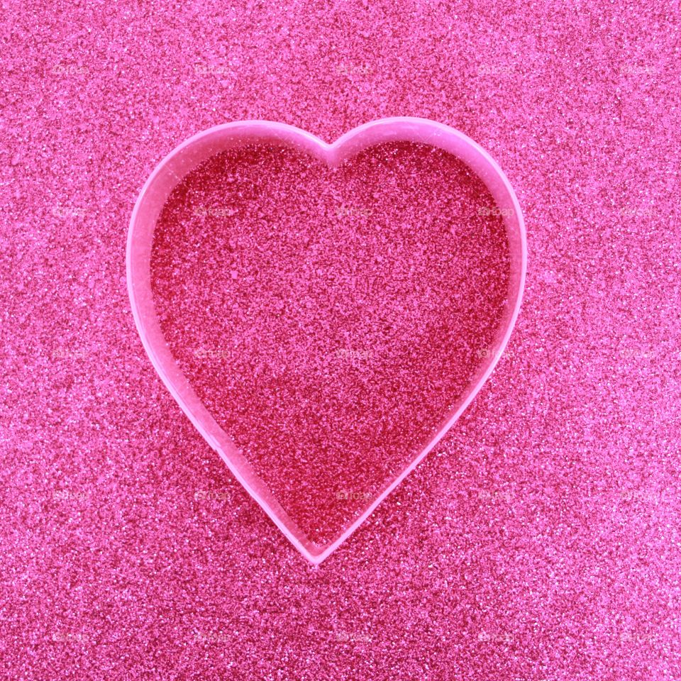 Valentines day pink heart