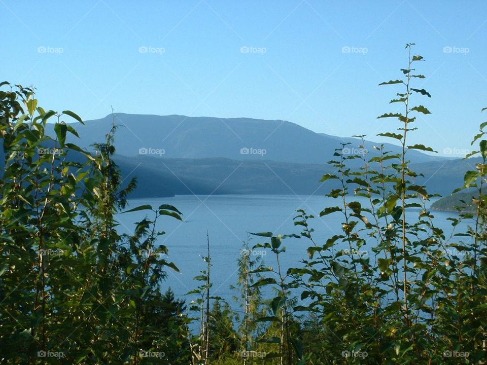Lake in the interior - British Columbia