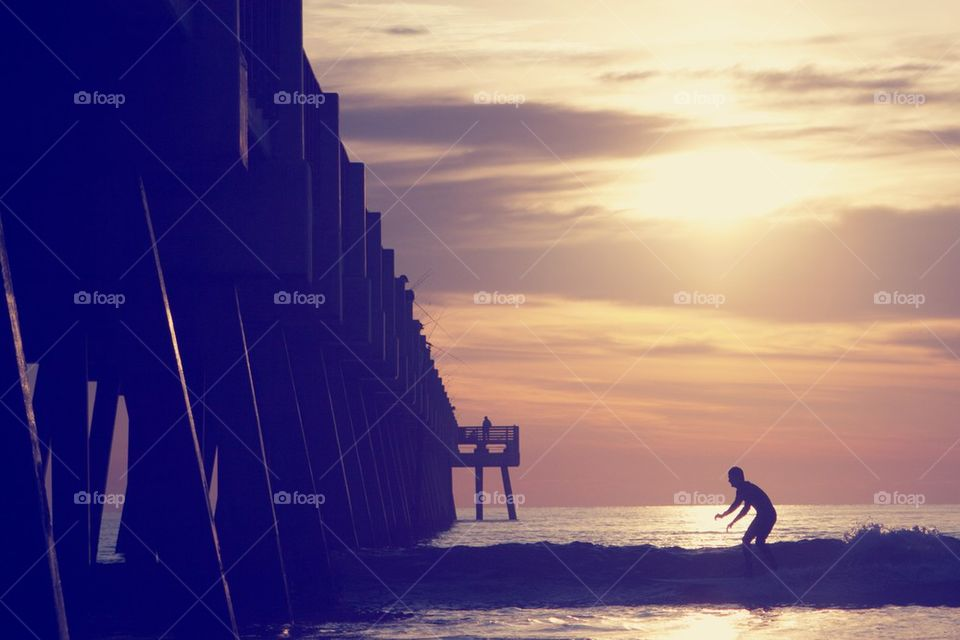 Surfer at the Pier