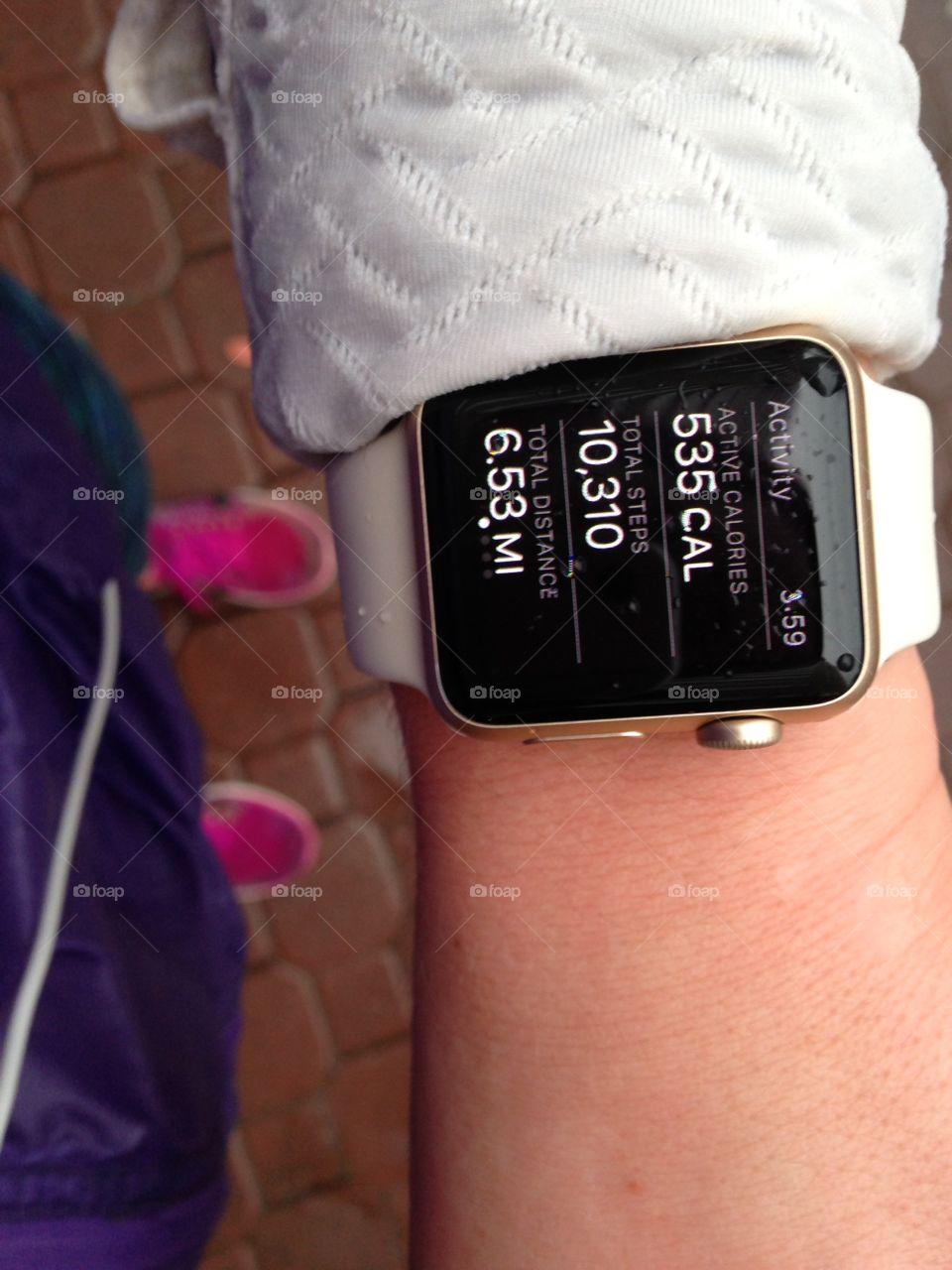 Apple Watch post-run stats