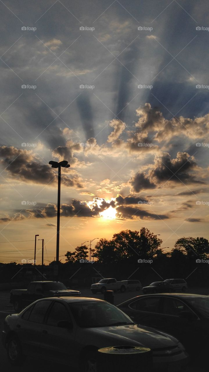 stopping at a rest stop during a road trip in New Jersey blessed us with this beautiful sunrise.