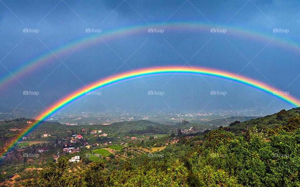 Amazing rainbow, over the world !