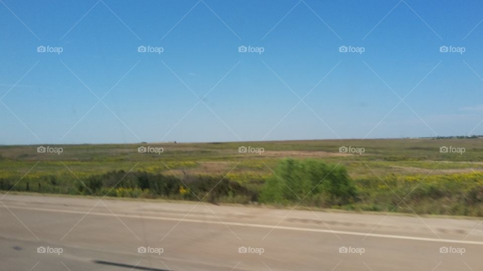 Great Plains and blue Sky