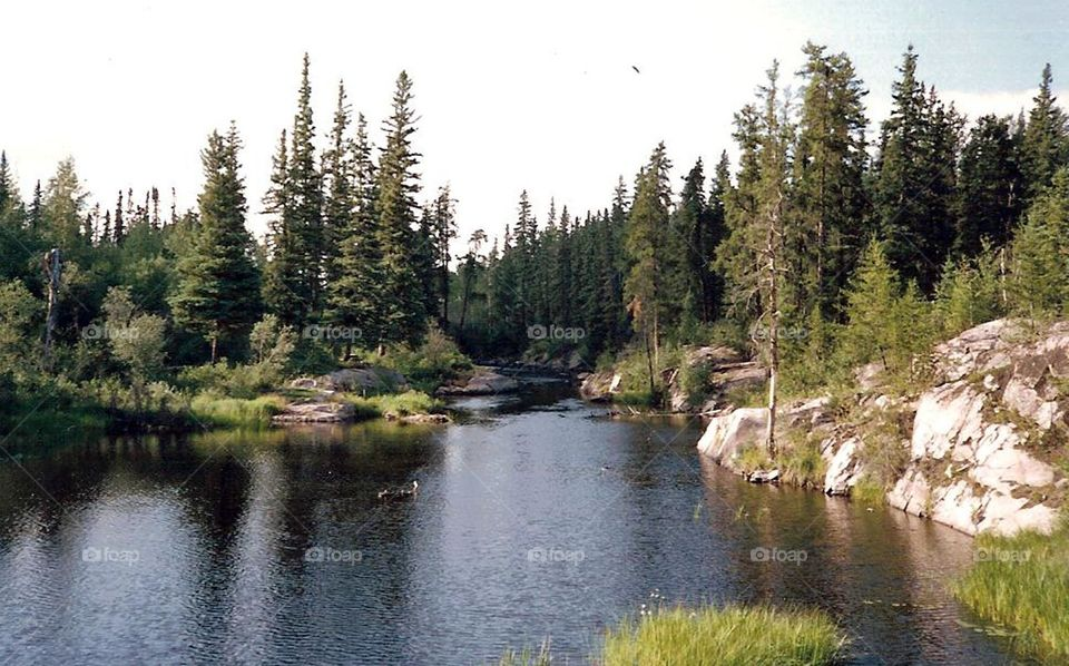 Rocky Lake in Northern Manitoba