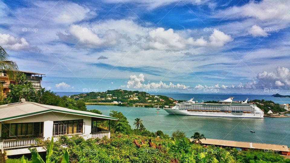 View overlooking Port of Castries St Lucia