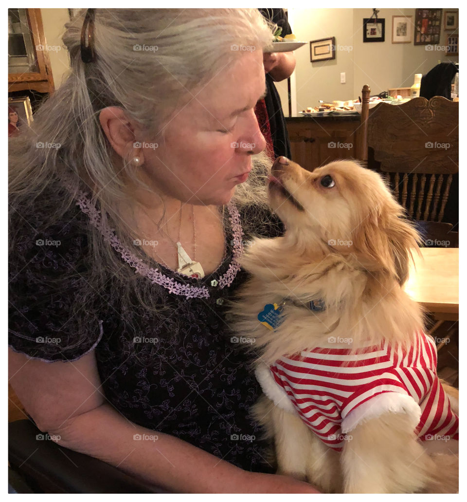 A mom and her service dog