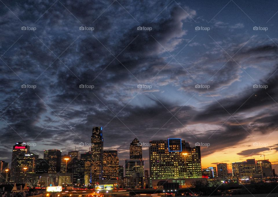 Stormy Dallas Night
