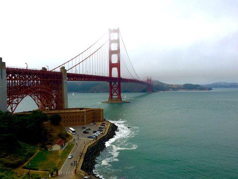 View of golden gate bridge in San Francisco
