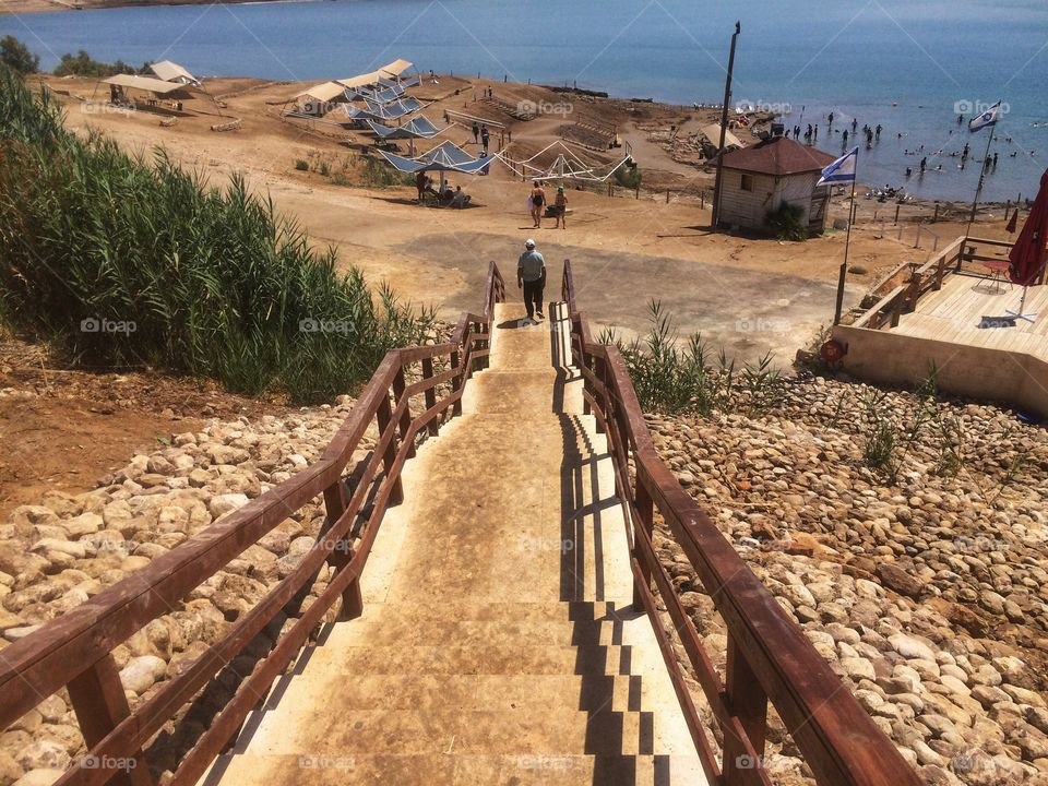 Stairs to the Dead Sea