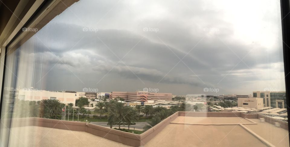 A storm is coming.  Kingdom of Bahrain
