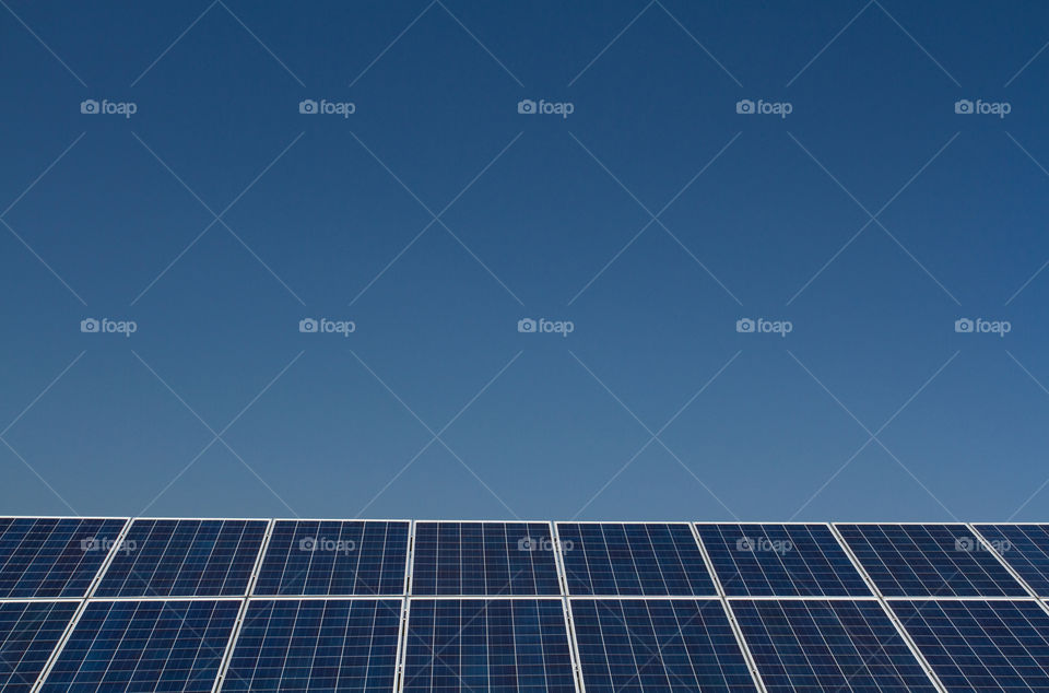 View of solar panel against clear sky