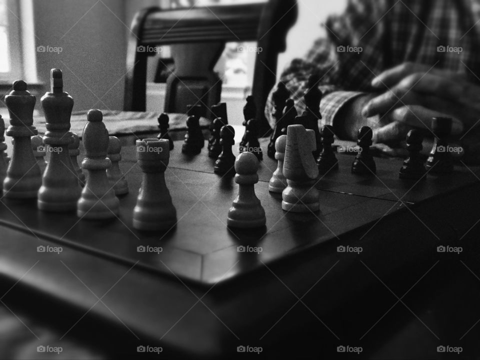 Chessboard in play