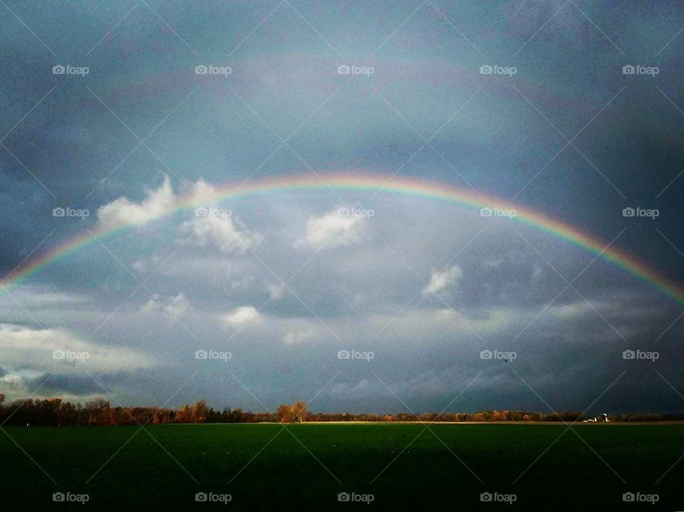 Rainbow over rural Ohio