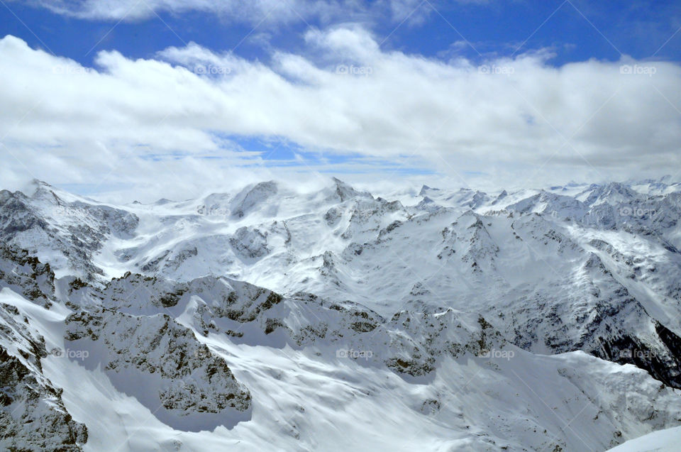 Snowy Alps mountain @ Mount Titlis, Switzerland