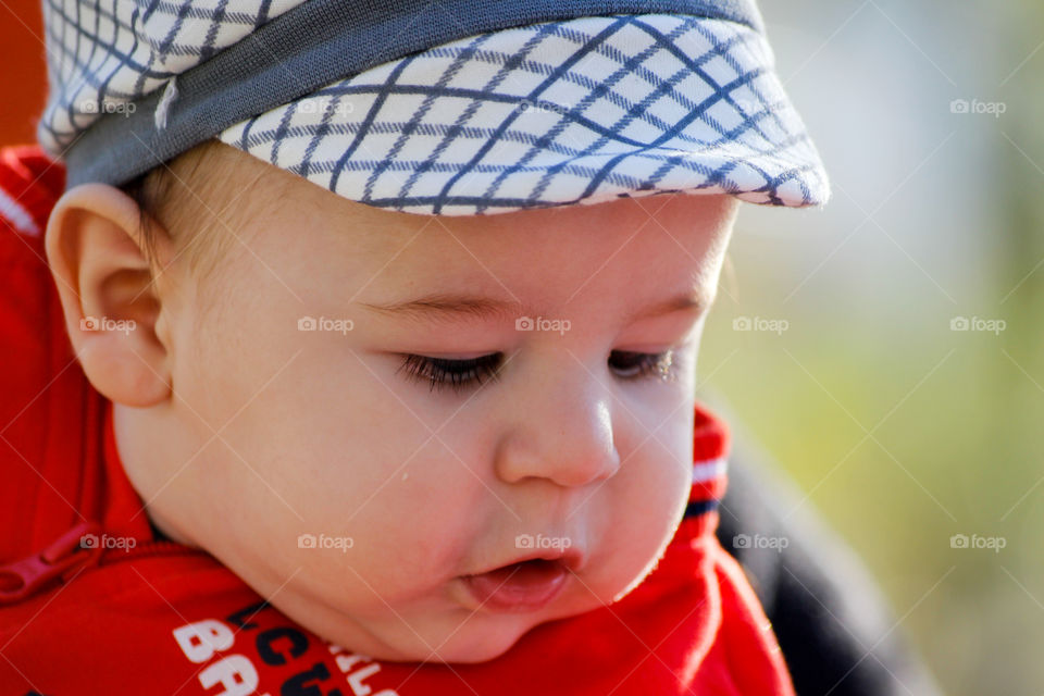 Close-up of a chubby baby