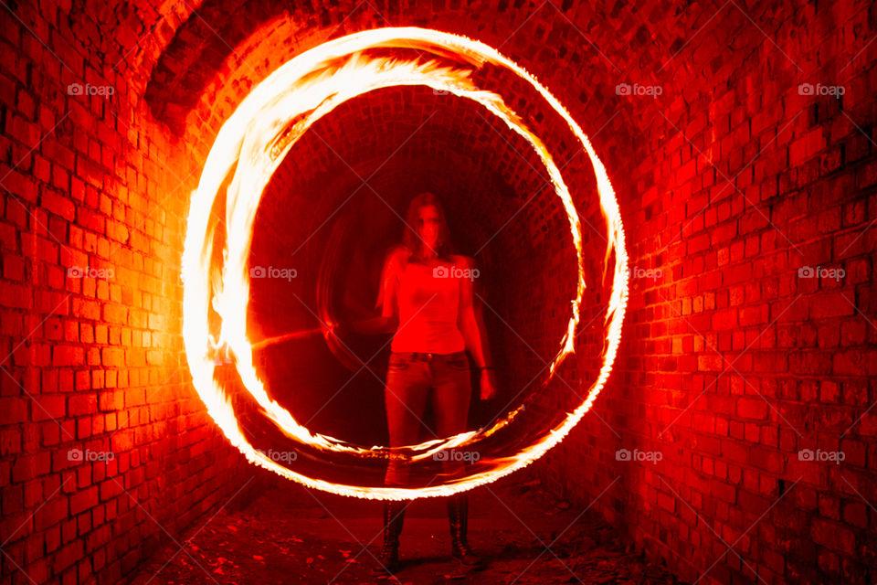Underground fire circle