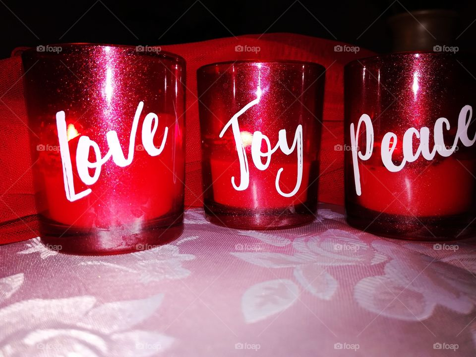 Love , joy ,peace second