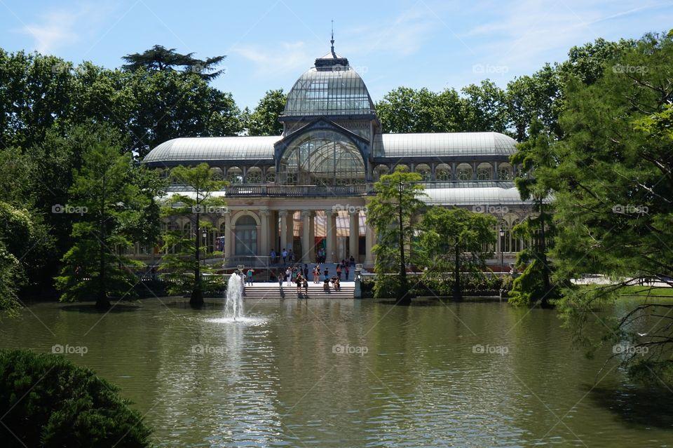 The Crystal Palace (Palacio de Cristal) in Retiro Park, Madrid