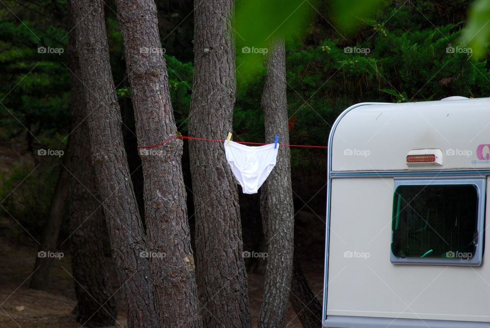 Laundry at the camping site