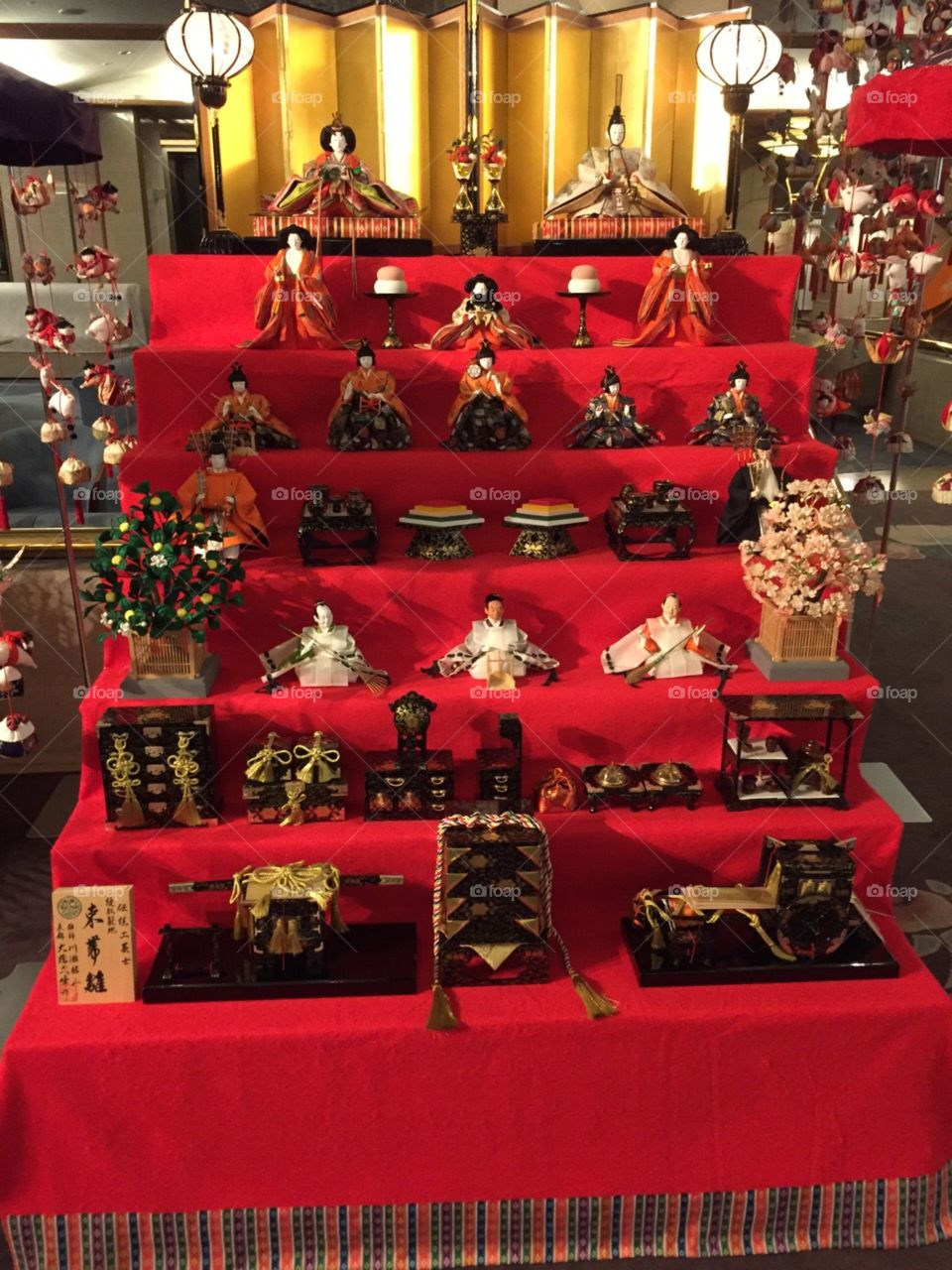 Hina Ningyo. Hina means princess, and Ningyo means doll. We decorate this dolls on March 3th in Japan. It's called Hinamatsuri. Hinamatsuri is a festival for girls.