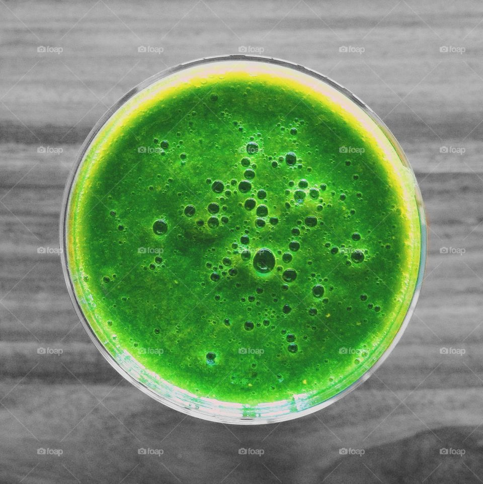 Colorful green smoothie