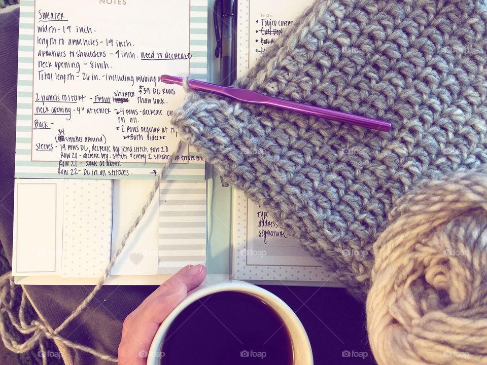 Crochet and coffee