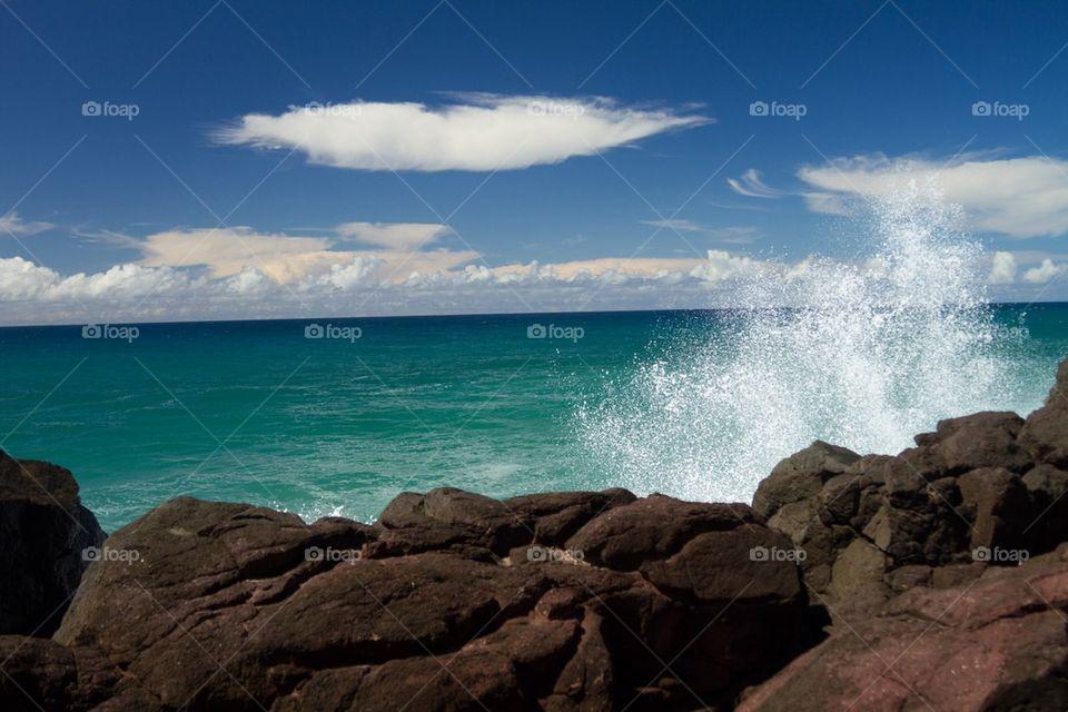 Splash Rocks at the beach