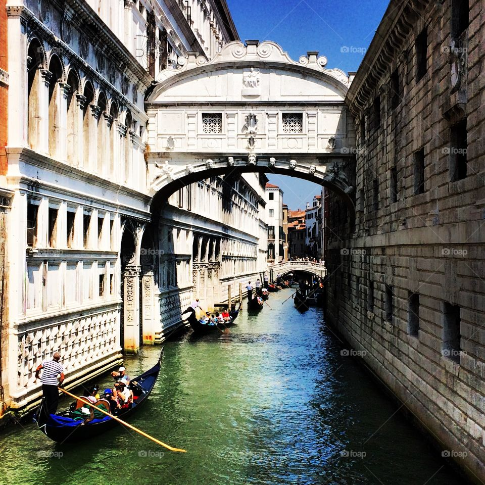 Holiday in Venice. a summer day exploring one of the most iconic and beautiful cities in the world.