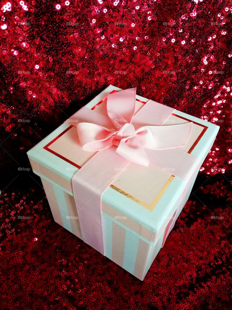 Close-up of a gift box