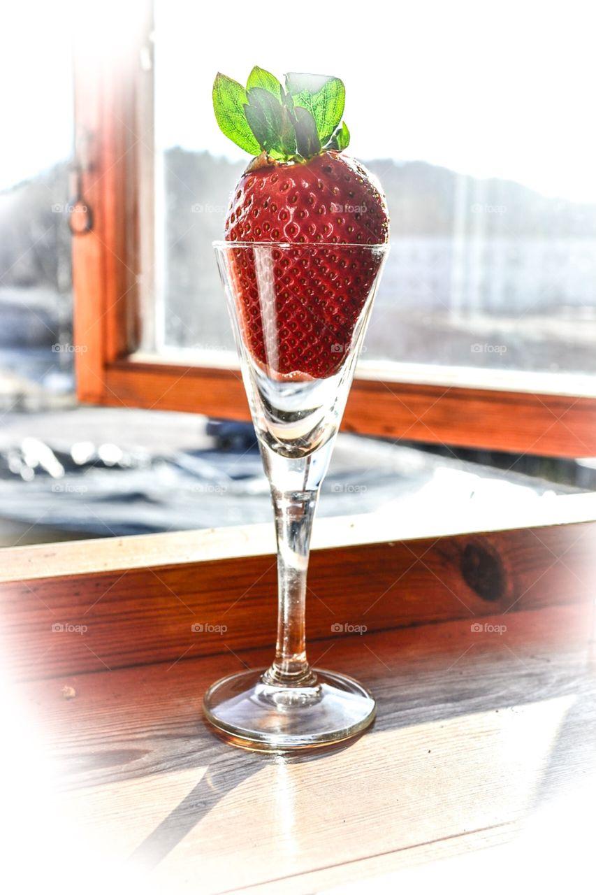 Glass of strawberry
