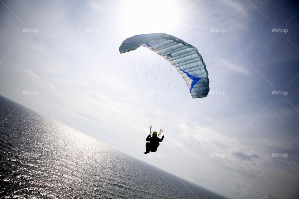 sky ocean sports flying by digitalambivalens