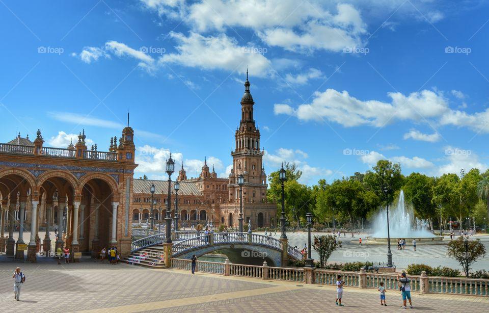 Plaza de España - Seville. View of Plaza de España, Seville, Spain.