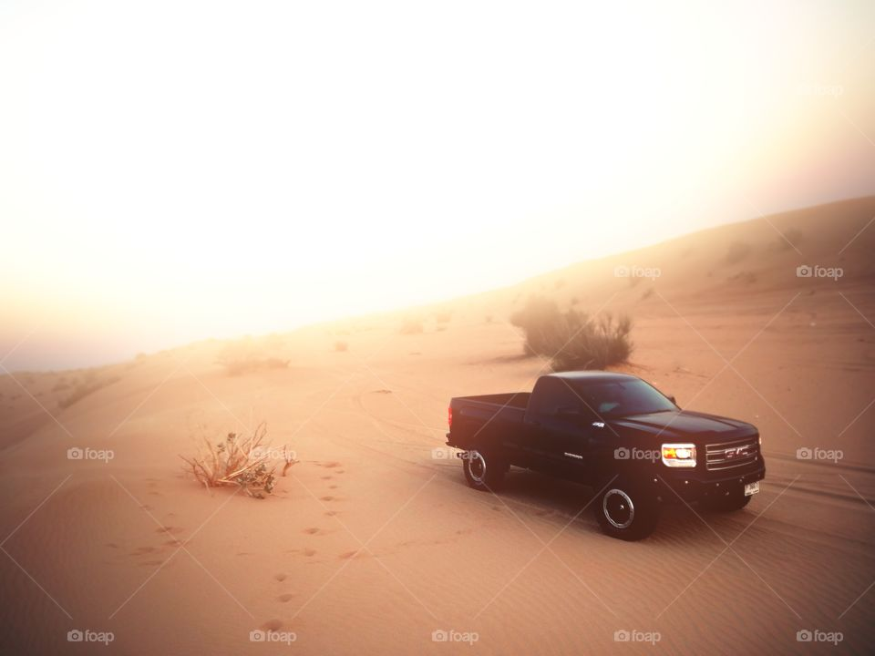 Truck in the Deserts of Dubai