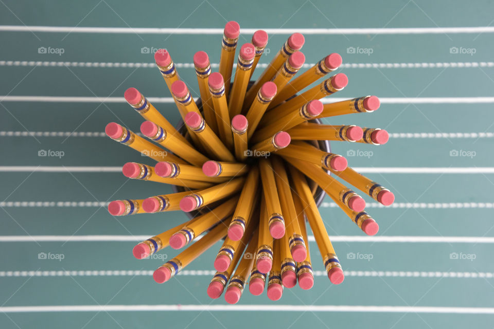 A Swirl of Yellow Pencils