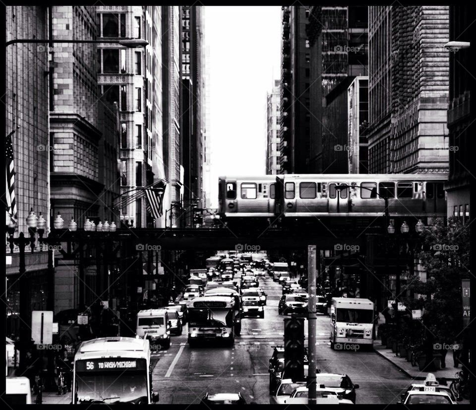 Train | mcommisso1, downtown, chicago, busy