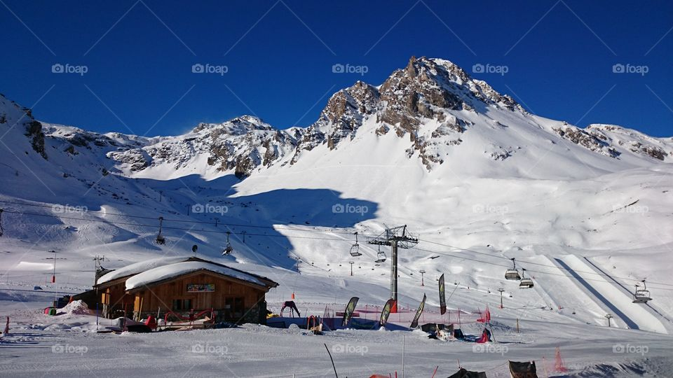 Ski Paradise . Photo was clicked with Sony Z1 Phone at Tignes Val Claret.